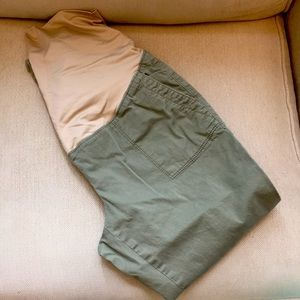 Must have olive maternity capris
